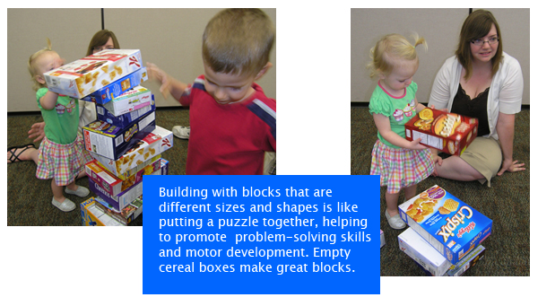 High Hopes children playing with blocks