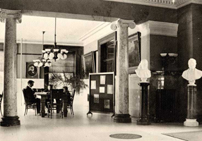 Library interior west view, circa 1902