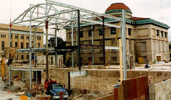 Library exterior, 1993 renovation
