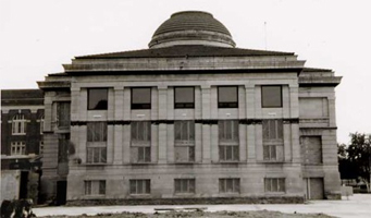 Library exterior, north 1993 renovation
