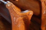 Carving on Church Pew