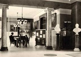 Library interior west view, circa 1902