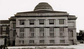 Library exterior, north 1993 renovation