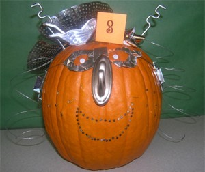 Decorated Silver Pumpkin