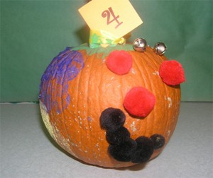 Decorated Colorful Pumpkin